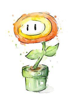 Beautiful Watercolor Paintings of Mario Characters — GeekTyrant