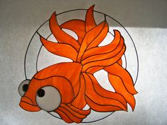 Big Eye Fish Stained Glass by wistfulfancy on Etsy, $85.00