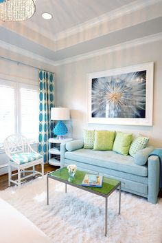 An Artichoke Lamp brings a POP of color to any space. Design by Tracy Hardenberg Design. #straydogdesigns