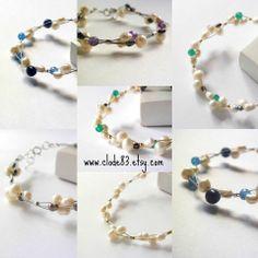 Pearl bracelets choose your own wedding elegant #handmade