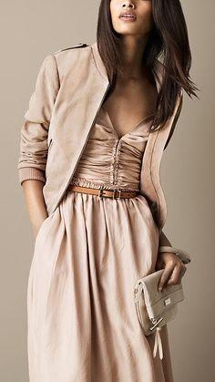 Beige dress, jacket