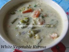 I know most of you must have had Vegetable White Kurma in restaurants served as accompaniment for chapathis/rotis or pulavs/biryanis. Wond...