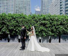 First look wedding photography, Miami urban wedding