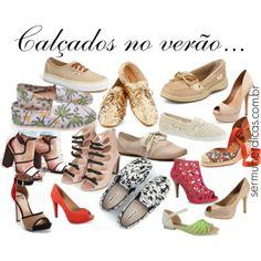 """""""Calçados no verão..."""" by truquesdemeninas on Polyvore para o blog sermulehrdicas.com.br"""