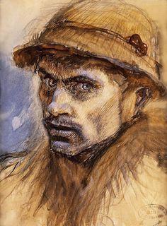 Head of a Tramp - Laszlo Mednyanszky - Hungarian painter