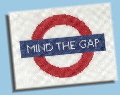 Mind The Gap PDF Cross Stitch Pattern by KittyCrackernuts on Etsy, $3.50