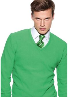 Rocking the green! This look with the tie and some grey dress pants would be fitting for a more formal engagement portrait. Lose the tie and loosen the collar and it's perfect for casual spring or even a chilly spring beach session (ignore the smoldering look on the model! We want smiles!). #freshphotographyforhappycouples http://ameliaanddan.com