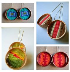 Tapestry earrings from  Relmu, Productos Chilenos.