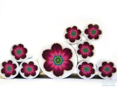 Polymer clay millefiori cane unbaked polymer clay by Ronit Golan