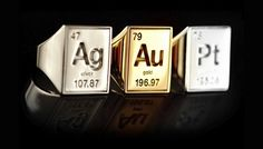 Periodic Table Rings | 30 Geeky Engagement Rings, Wedding Bands, And Ring Boxes