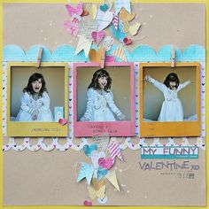 sophie crespy with the april scrapbook circle kit, Daydreamer