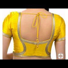 Saree Blouse Neck Designs, Simple Blouse Designs, Dress Neck Designs, Stylish Dress Designs, Blouse Patterns, Stylish Dresses, Lehenga Blouse, Sari, Blouse Models
