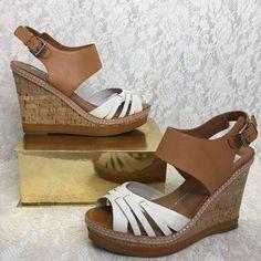 618b64951a16 Dolce Vita Womens Cork Wedge Sandal Heels Brown Strappy Size 8.5   DVByDolceVita  PlatformsWedges  SandalsHeels