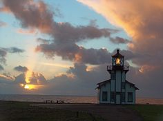 Sunset at Point Cabrillo Lighthouse. By Bruce Lewis
