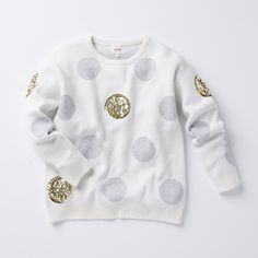 Seeing spots! Our Girls Intarsia Spot Sweater is the perfect style to keep her warm this winter. #seedheritage
