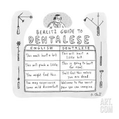 """Berlitz Guide to Dentalese"""