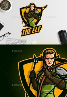 Buy Esports Elf Archer Logo by Suhandi on GraphicRiver. A Resfreshing Logo Design Perfect for your sports/esports team. Everything is editable, scalable and ready to print. Game Logo Design, Best Logo Design, Graphic Design, Vector Logos, Vector Art, Logos Photography, Logos Vintage, Logos Ideas, Esports Logo