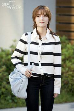 Goo Hye sun rocking the comfortable look. Love the bag. Lee Sang Yoon, Lee Sung Kyung, Korean Actresses, Korean Actors, Snsd, Gu Hye Sun, Korean Celebrities, Celebs, Ahn Jae Hyun