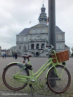 Bicycle by City Hall, Maastricht, The Netherlands.