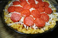 Macaroni Pizza Pie recipe at Supper Weekly
