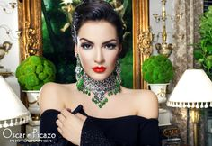 """Model Jocell Villa Tribute to Maria Felix """"Maxima Diva"""" - How To: Wear elaborate necklaces! Pair them with a simple dress! Do your makeup & you have a wonderful look!"""
