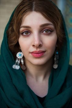 """theatlasofbeauty:  """"Farnoush lives in two different worlds. In one she is an economist, by profession. In the other, she is an artist, because this is her passion. I met her in Tehran, Iran, last year. These days I'm in Kolkata, India.  """""""