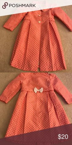 Girls  Polkadot Dress Coat 6X Girls  Polkadot Dress Coat 6X Bonnie Jean Jackets & Coats
