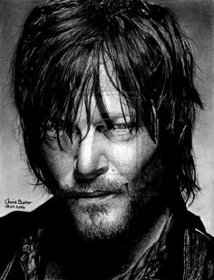 This is my drawing of Daryl Dixon played by Norman Reedus, from a tv show called The Walking Dead! Daryl Dixon - The Walking Dead Walking Dead Series, Fear The Walking Dead, Rick Grimes, Daryl Dixon, Stuff And Thangs, Dead Man, Comic Book Covers, Norman Reedus, Looks Cool