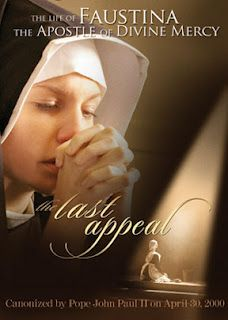 Awesome short film about the life of St. Faustina, .  Available to view on EWTN!!!
