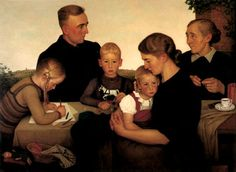 Unfortunately, I love this painting. It is unfortunate because this is by Adolf Wissel, a German artist approved by the Nazis during the Third Reich. If you want to learn about a unique aspect of WWII and Nazi Germany, research this stuff...