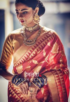 Banarsi Saree by Ayush Kejriwal For purchases email me at designerayushkejriwal@hotmail.com or what's app me on 00447840384707 Instagram - designerayushkejriwal