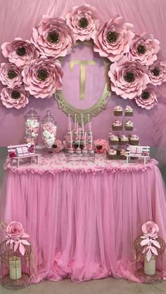 Baby Shower Themes For Girls Princess Paper Flowers 24 Trendy Ideas Baby Shower Sweets, Baby Shower Cake Pops, Girl Baby Shower Decorations, Girl Decor, Baby Shower Favors, Baby Shower Parties, Baby Shower Themes, Birthday Party Decorations, Baby Shower Activities