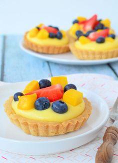 Fruit tartelettes met banketbakkersroom - Laura's Bakery