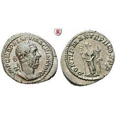 Römische Kaiserzeit, Macrinus, Denar 217, f.st: Macrinus 217-218. Denar 21 mm 217 Rom. Gepanzerte Büste r. mit Lorbeerkranz IMP C M… #coins