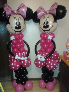 1000 images about alyssa 39 s minnie mouse birthday party on for Balloon decoration minnie mouse