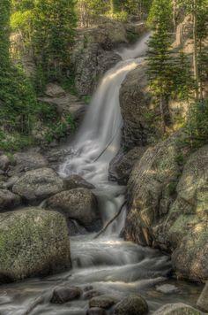 Alberta Falls in Rocky Mountain National Park near Estes Park, Colorado