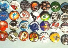 'NFL 1 inch round flatback buttons' is going up for auction at  9am Fri, Sep 14 with a starting bid of $5.