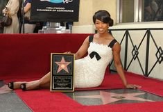 Angela Bassett attends the ceremony honoring her a star on the Hollywood Walk of Fame on March 20, 2008 in Hollywood, California.