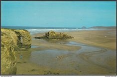 The Beach & Chapel Rock, Perranporth, Cornwall, c.1970s - Colourmaster Postcard