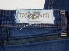 TAVERNITI So Low Rise ANGIE Lattice Pocket Skinny Straight Leg Jeans Size 27 #Taverniti #Straight