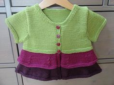 tri colored tier jacket for little girl