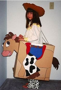 """Creative """"Try""""als: Toy Story Great birthday party favors for guests at a cowboy or cowgirl party. Toy Story Halloween Costume, Toy Story Costumes, Horse Costumes, Diy Costumes, Toy Story Party, Toy Story Birthday, Holidays Halloween, Halloween Diy, Pony Party"""