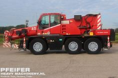 Used telescopic crane available at Pfeifer Heavy Machinery. Item Number PHM-Id 07379, manufacturer DEMAG, model AC40 City, year of construction 2006, kilometers 15000, hours 13068, loading (lifting) capacity (kg) 40000, boom length maximum (m) 31, fuel Diesel. More cranes at www.pfeifermachinery.com.