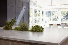 House Call: Endless Summer in a London Victorian - Remodelista Herb Garden In Kitchen, Kitchen Herbs, Kitchen Benches, Kitchen Ideas, Kitchen Design, Kitchen Inspiration, Herb Planters, Eclectic Kitchen, Bespoke Kitchens