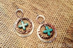 Candie Cooper Silver and Turquoise Earrings