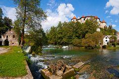 Žužemberk castle above the Krka #slovenia