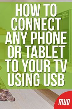 How to Connect Any Phone or Tablet to Your TV Using USB - - Wondering how to connect your phone to a TV using USB? Here's how to connect your Android or iPhone to a TV with a USB cable. Life Hacks Computer, Iphone Life Hacks, Computer Gadgets, Computer Basics, Computer Help, Computer Tips, Computer Projects, Computer Desks, Android Phone Hacks