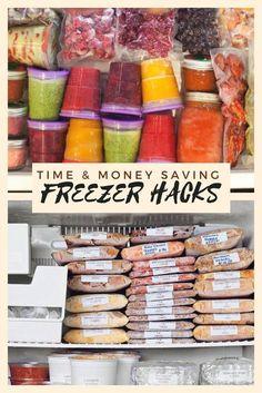 Time & Money Saving Freezer Hacks is part of Freezer meals - Freezer Hacks, Make Ahead Freezer Meals, Freezer Cooking, Crock Pot Freezer, Meals To Freeze, Individual Freezer Meals, Meals That Freeze Well, Freezer Soups, Chicken Freezer Meals