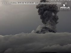 Volcanoes Today, 17 Feb 2015: Colima volcano, Villarrica, Chikurachki Volcano Discovery Chikurachki (Paramushir Island): Ash emissions and explosions of smaller size than the initial one on Sunday evening continue to occur. Ash plumes reported rose to 12-15,000 ft (3...