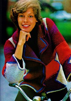 Patchwork and Striped Jacket PDF Knitting Pattern by MomentsInTwine on Etsy